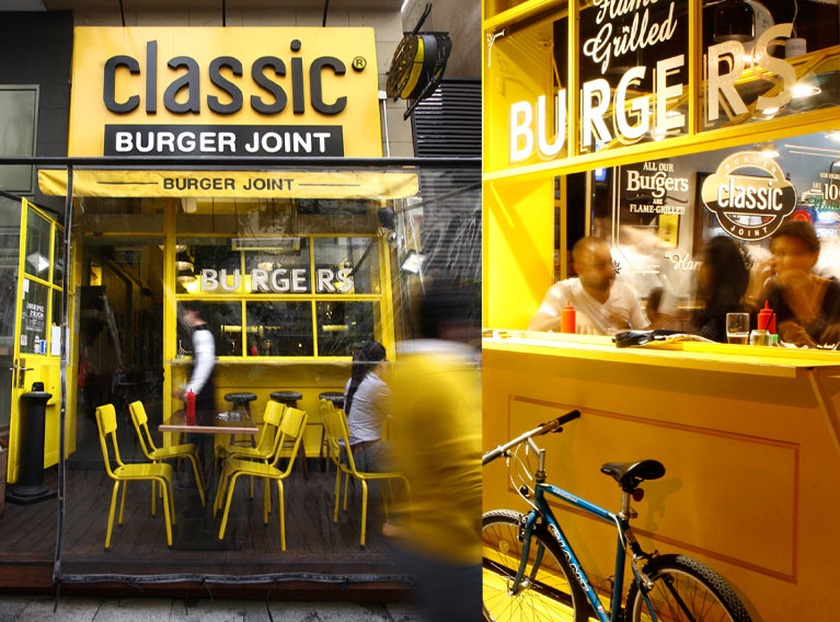 Classic Burger Joint – Concept Development, Brand Identity Creation, Marketing & Communication