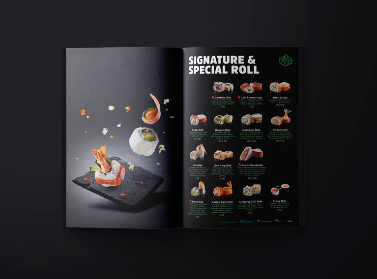 Miyabi – Experimental Photography And Menu Design For Dubai Restaurant Chain