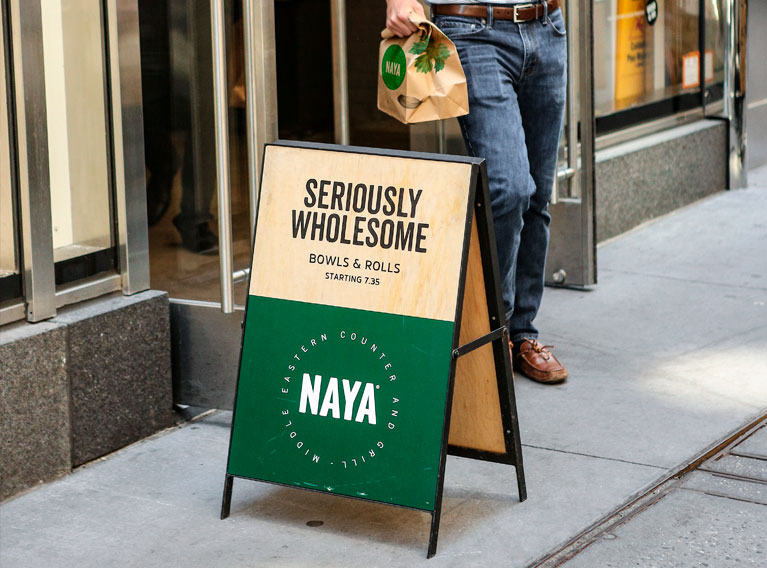 Naya – Brand Strategy And Identity Revamp For Levantine QSR Chain In New York