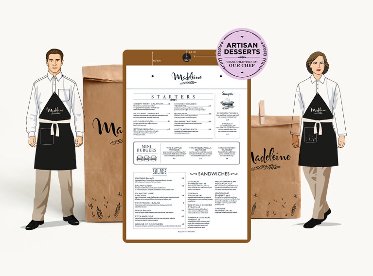 Madeleine – Brand Identity Suitable For Refined French Cuisine In KSA
