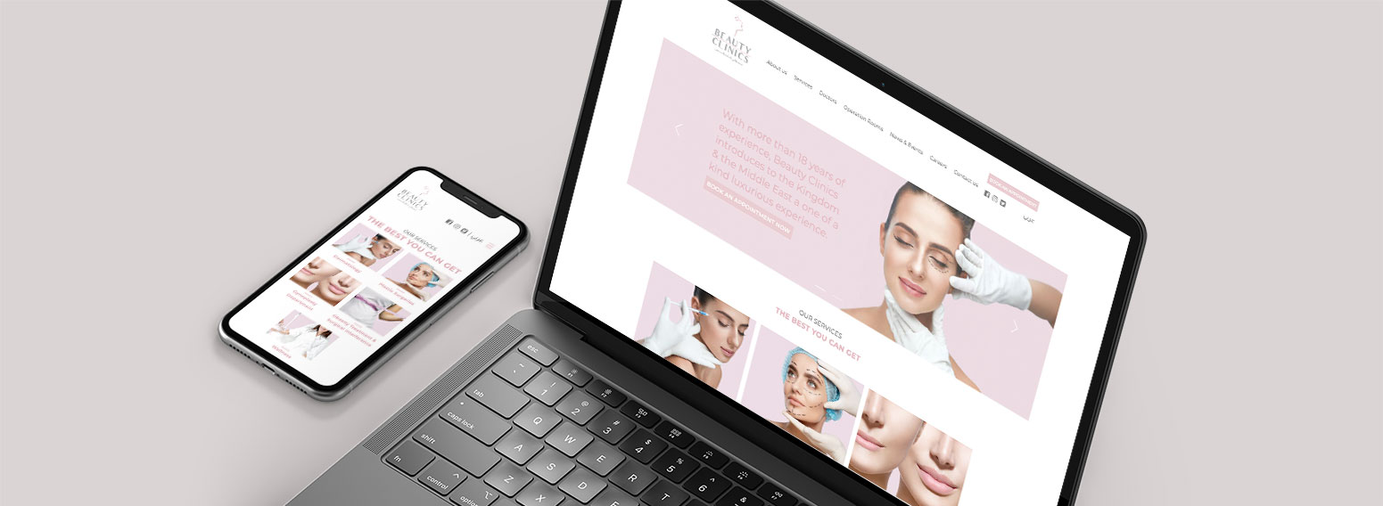 Beauty Clinics – Rejuvenating The Website Of KSA's Biggest Beauty Clinic