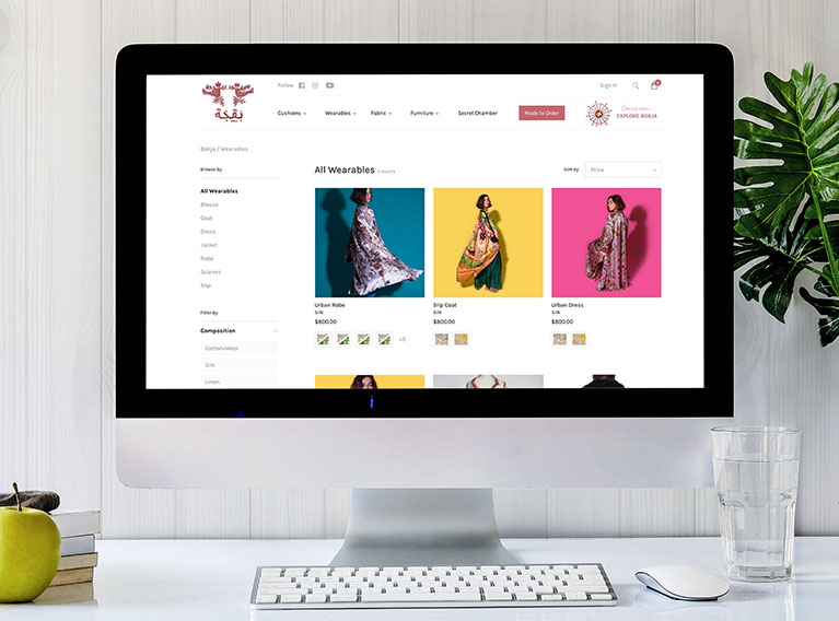 Bokja – eCommerce Website For Disruptive Fashion & Furniture Brand