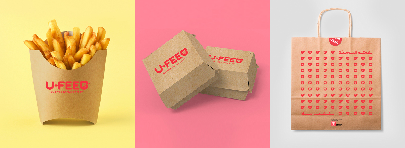 Ufeed By Caritas – A CSR Initiative By WonderEight: Full Brand & Visual Identity Creation