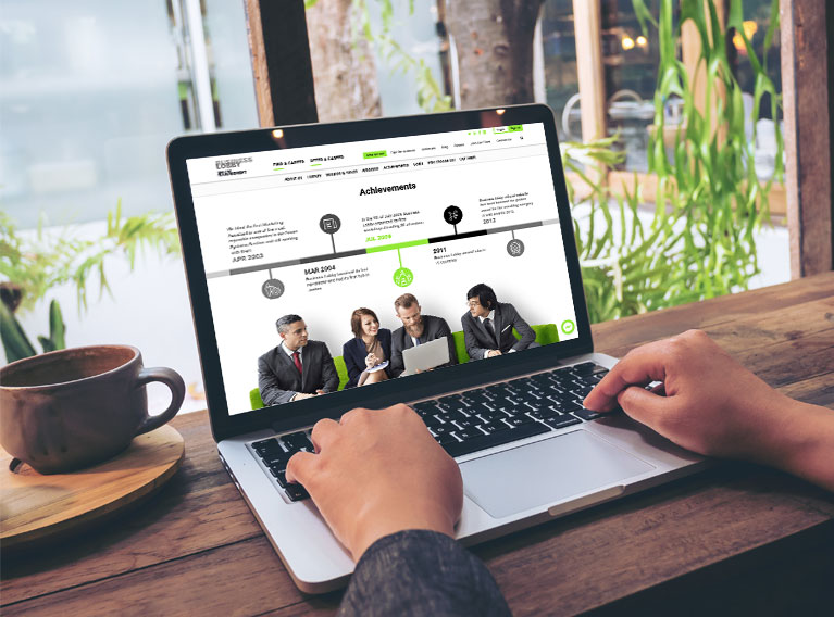 Business Lobby – Website Development & Design For Talent Management Agency