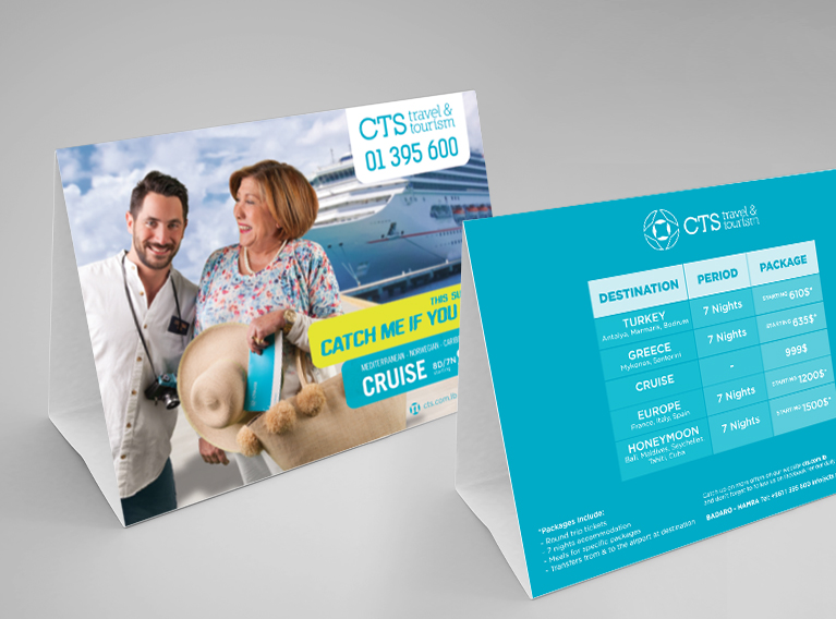 CTS Travel & Tourism – Communication Campaign For Travel Agency In Lebanon