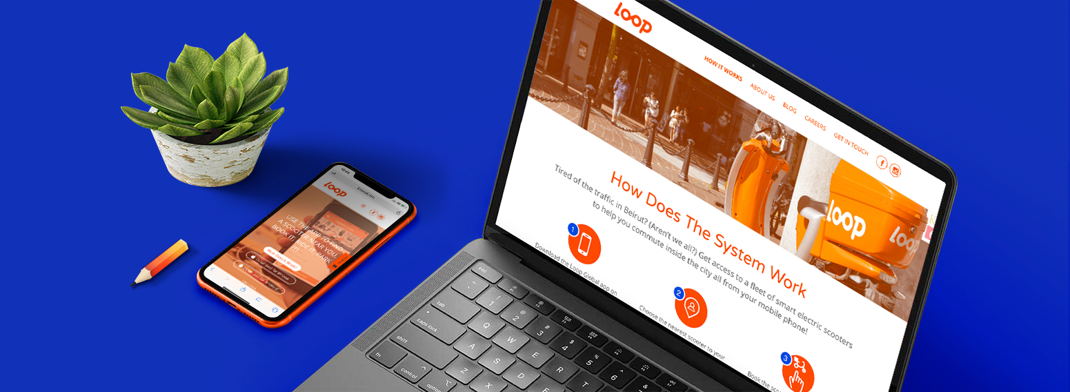 Loop Scooter – Brand Identity Creation & Website Development For Forbes Middle East Top 100 Startups List