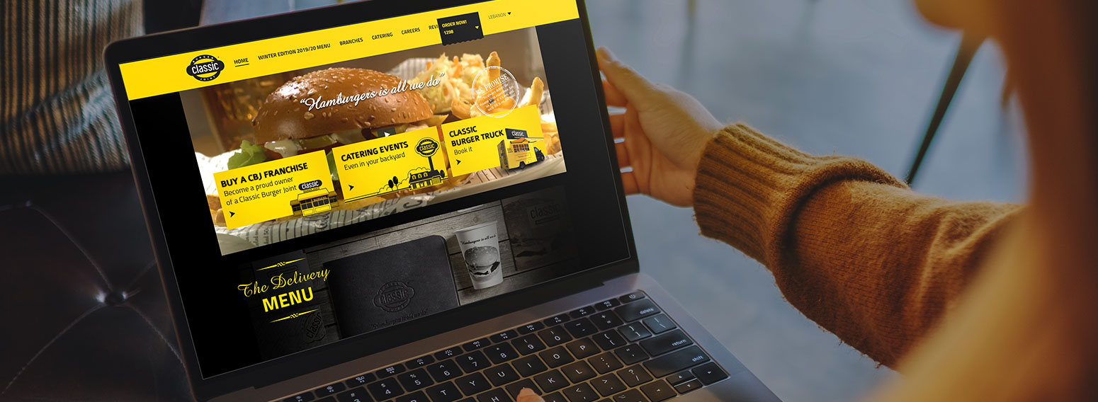 Classic Burger Joint – Bold & Vibrant Website To Match The Brand Identity