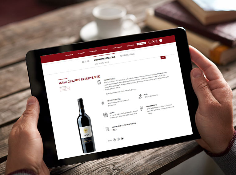 Ixsir – Website Design, Development & SEO Optimization For Lebanese Wine