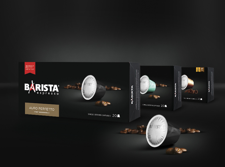 Barista – Strategy, Branding, Packaging, Communication & Social Media For Coffee Brand