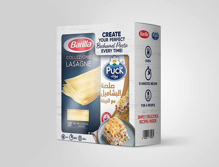 Barilla & Puck – Packaging Design, POSM Branding & Content Shoot For The UAE